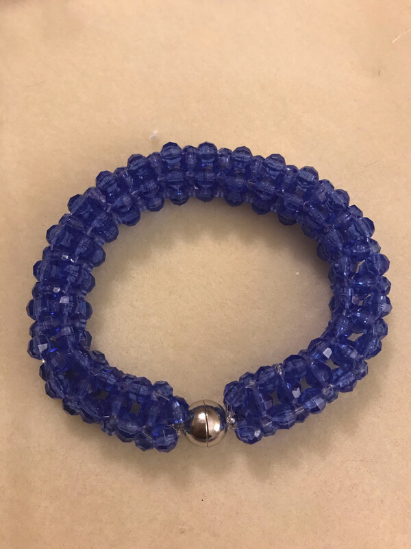 bracelet à armure cubique