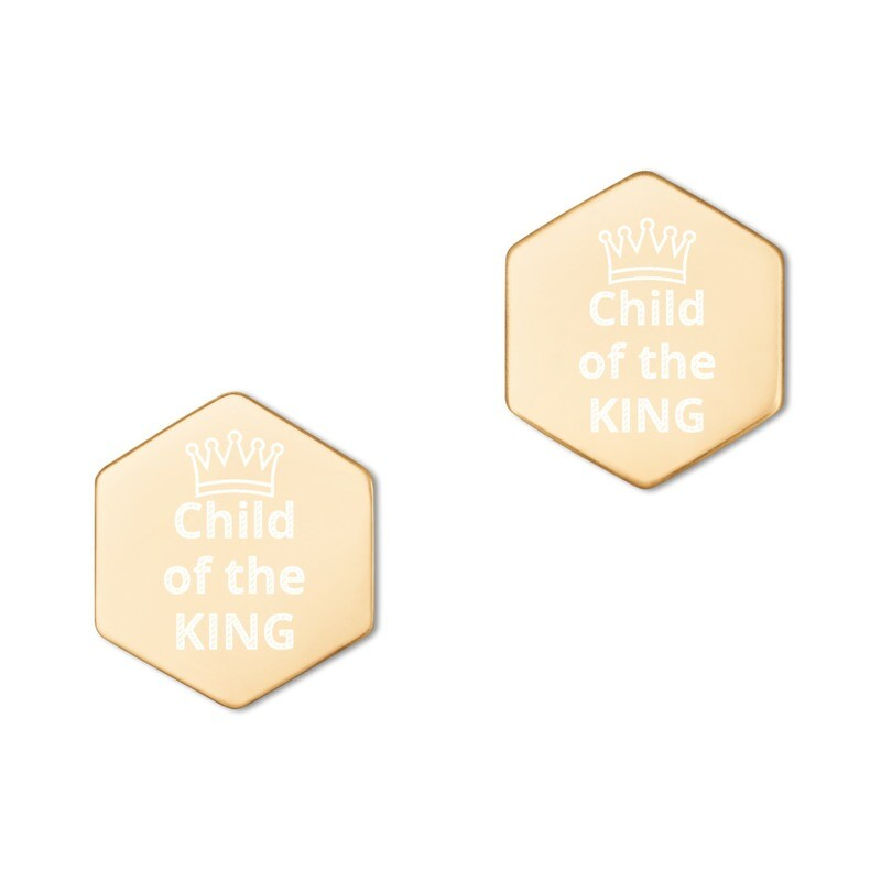 Hexagon Stud Earrings ( available in 18K and 24K )