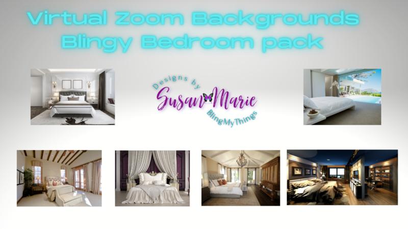 6 Bedroom scenes - Virtual Background package for Zoom