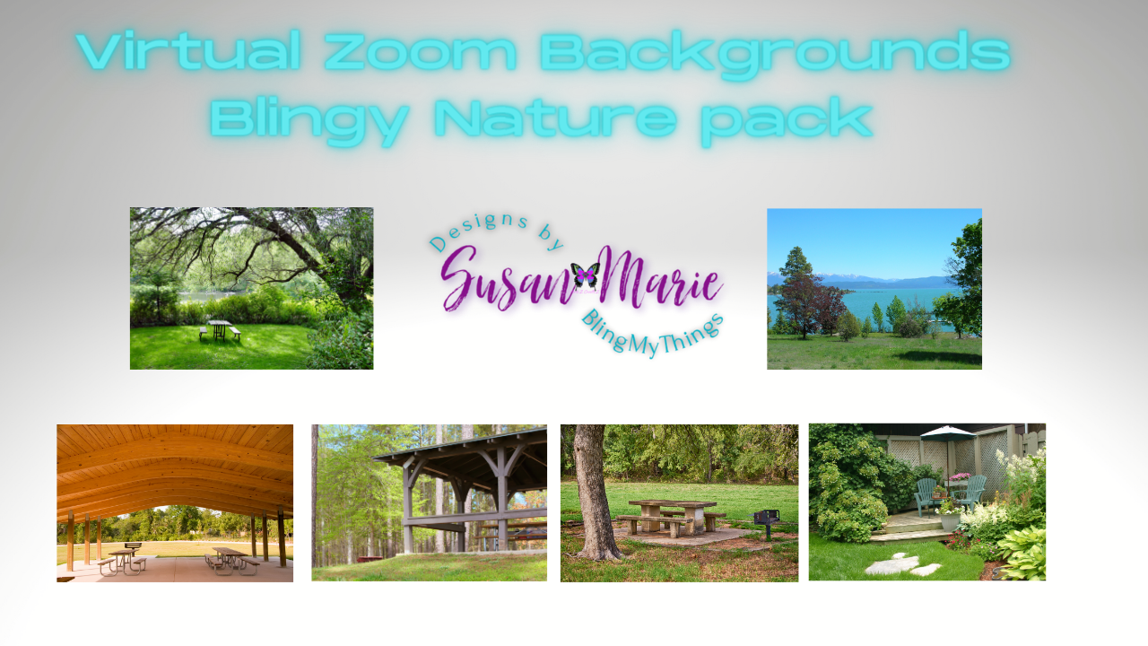 6 Nature/outdoor scenes - Virtual Background package for Zoom