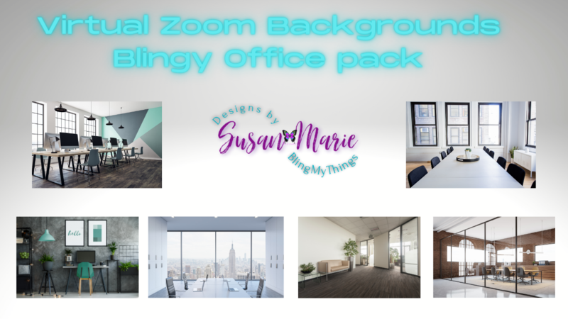 6 Office scenes - Virtual Background package for Zoom