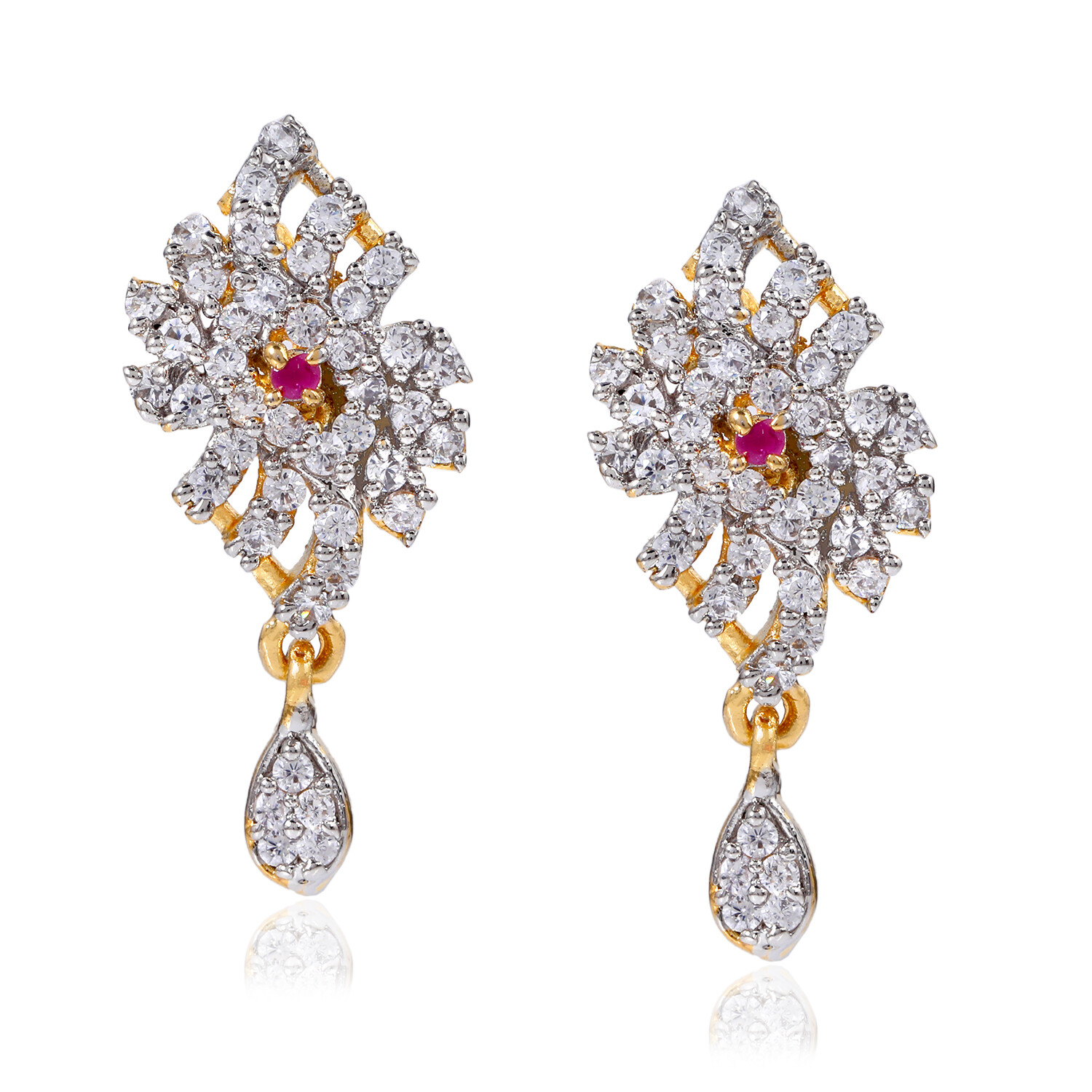 Estele AD Crystal Traditional Wear Earrings