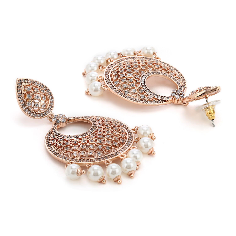 Estele AD Stones Traditional Dangler Earring