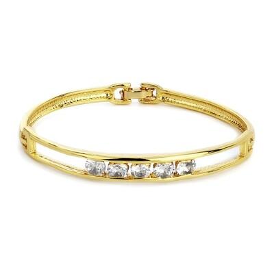 Estele Gold Plated White Stone Bracelet