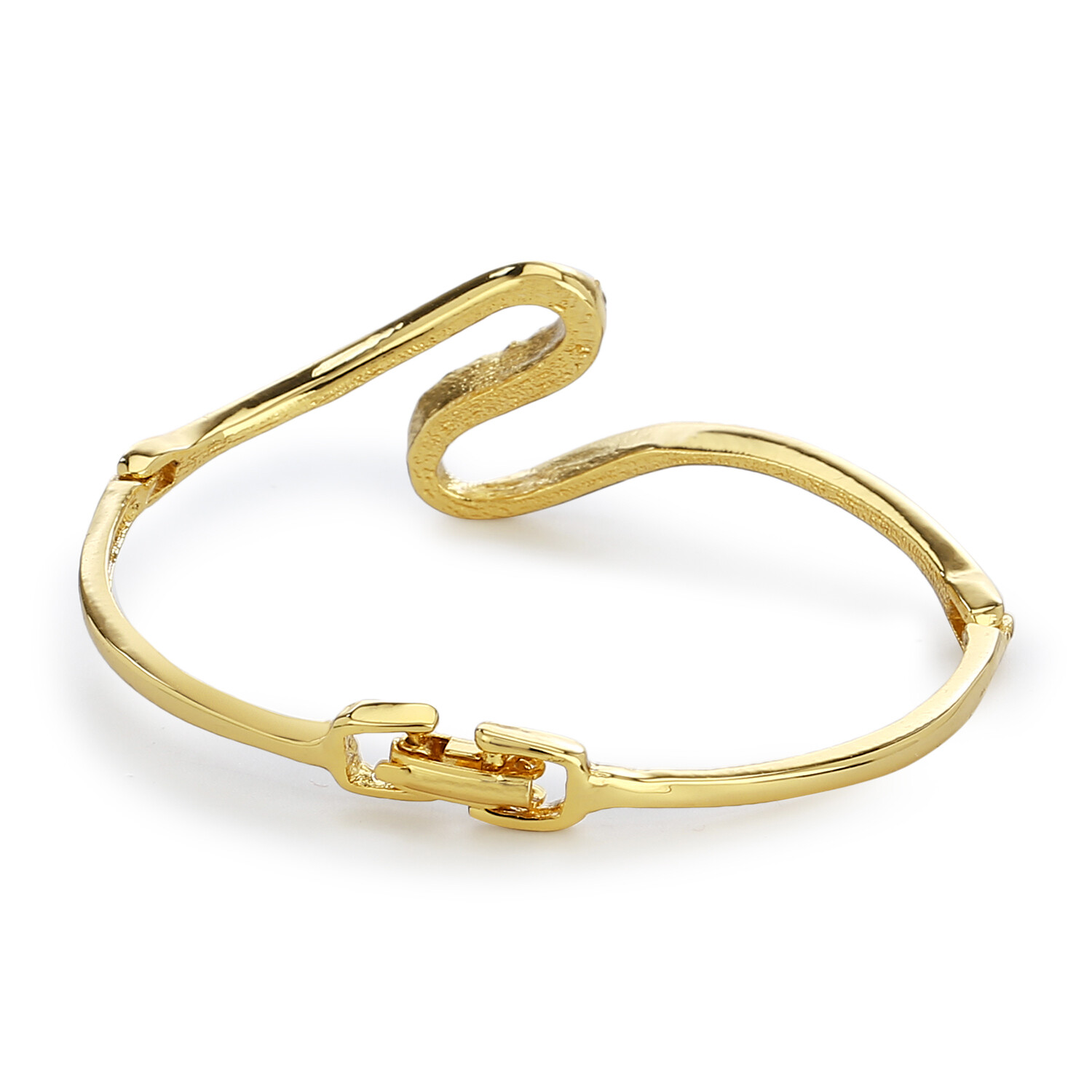 Estele Gold Plated White Stone Bangle Kadda