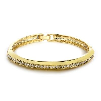 Estele Gold Tone Plated White Stone Kaada Bracelet