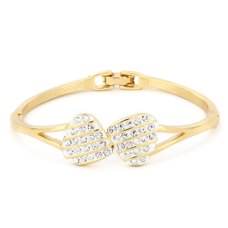 Estele Bracelet With White Austrian Crystal Stone