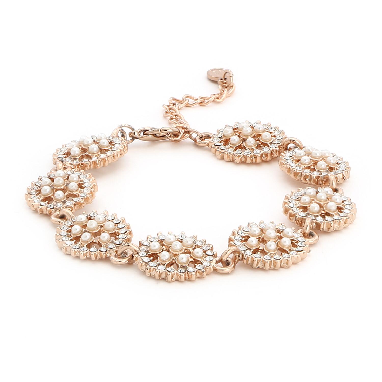 Estele Rose Gold Pearl Bracelet