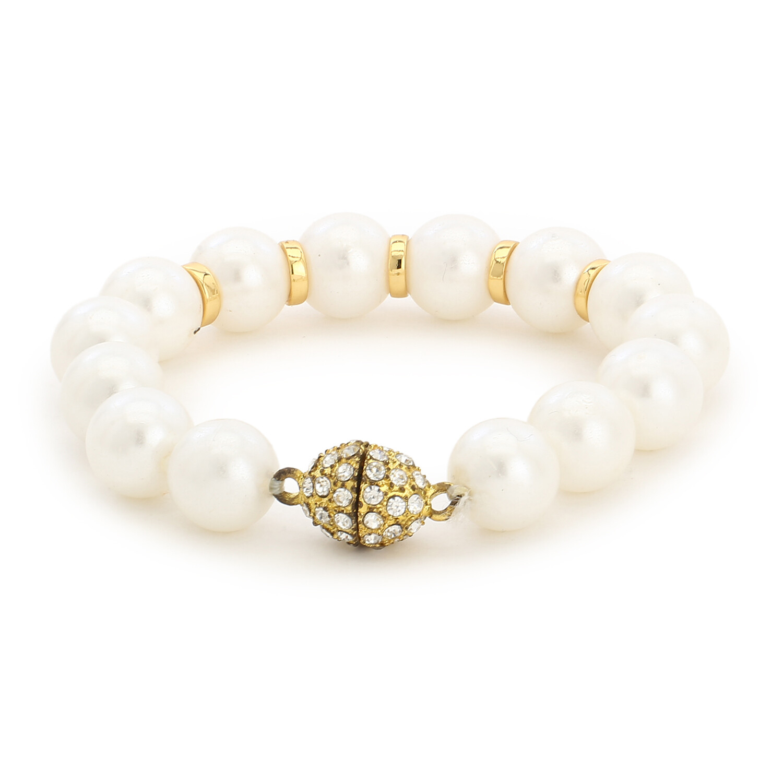 Estele White Flux Pearl Bracelet