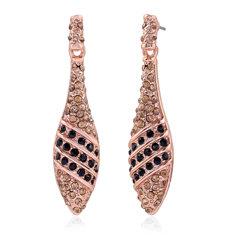Estele Austrian Crystal Teardrop Earrings