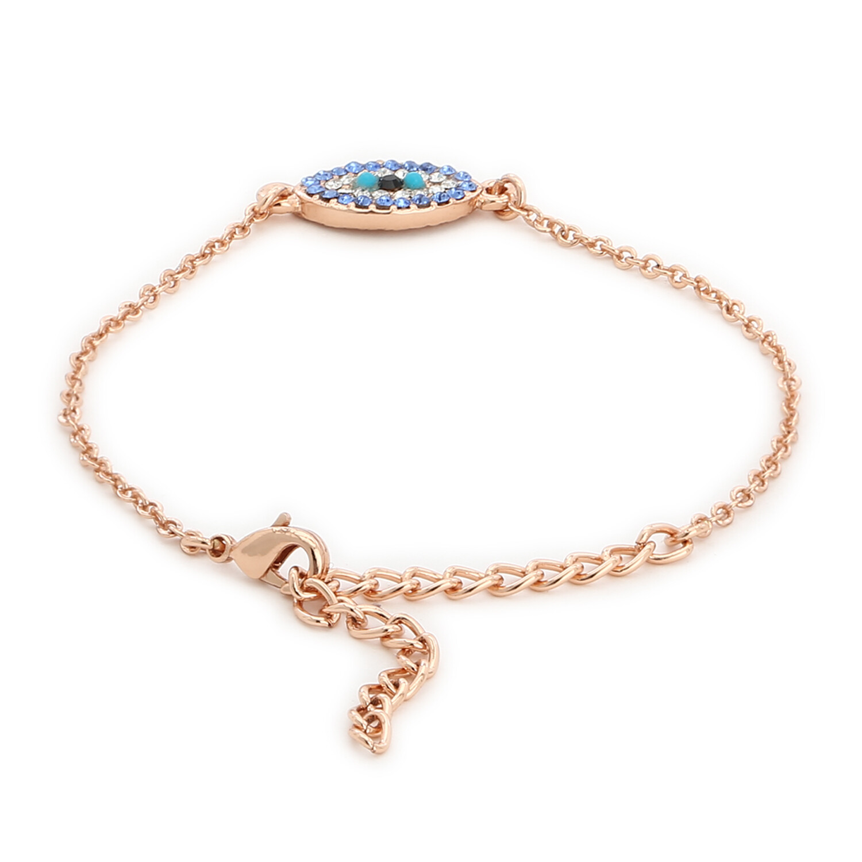 Estele Evil Eye Rose Gold Bracelet Using Swarovski Stones