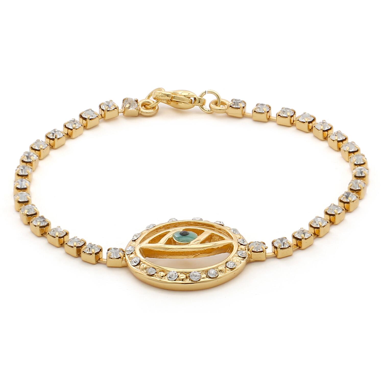Estele Evil Eye Bracelet With White Austrian Crystal