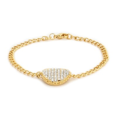 Estele Round White Austrian Crystal Stone Bracelet