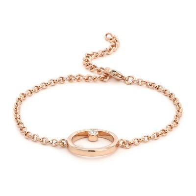 Estele Polaris Rose Gold Bracelet Using Swarovski Stones
