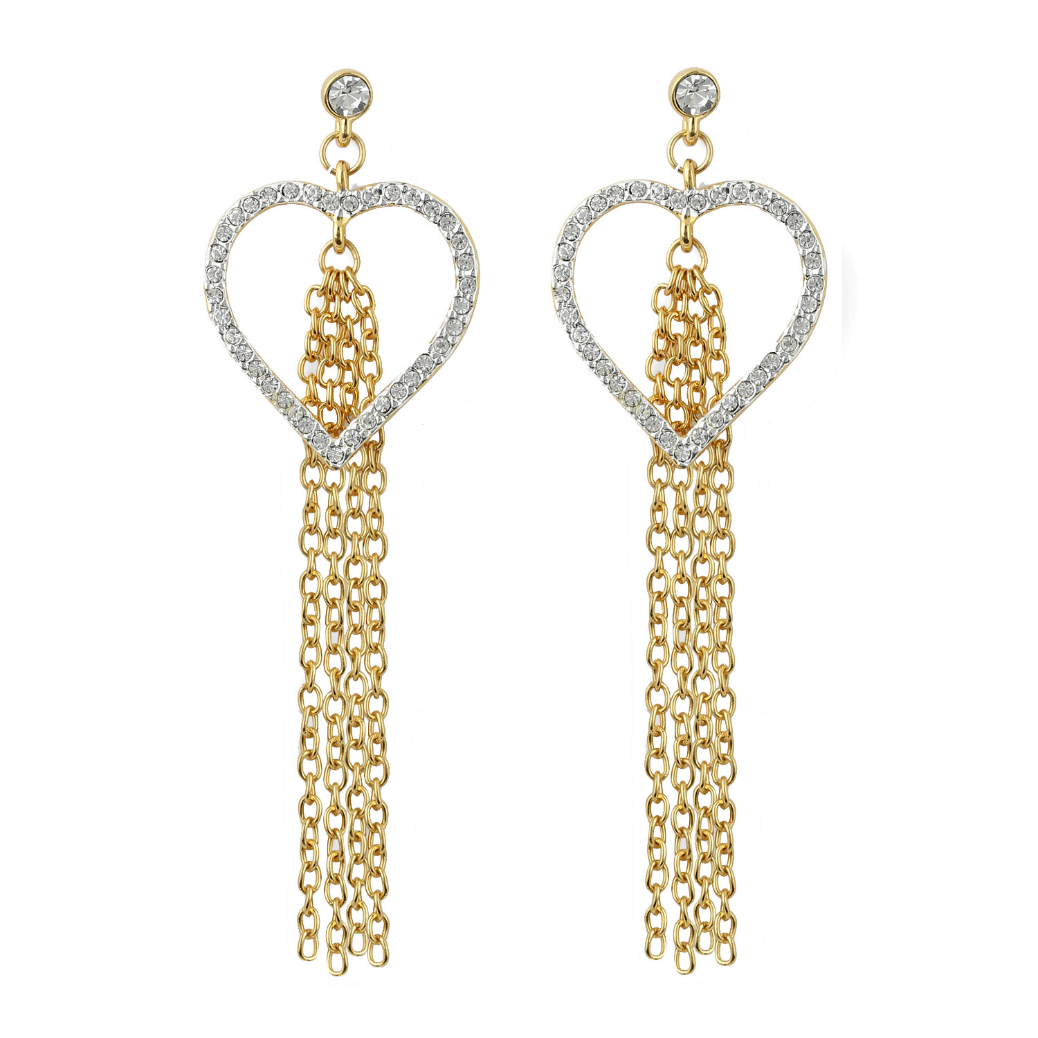 Estele Heart Tassel Earrings
