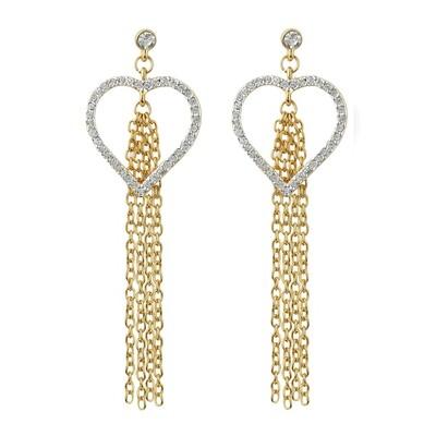 Estele Heart Tassel Earrings