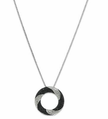 Estele Swirl Dawn And Dusk Pendant And Earring Set