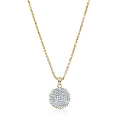 Estele Diamante Circle Pendant