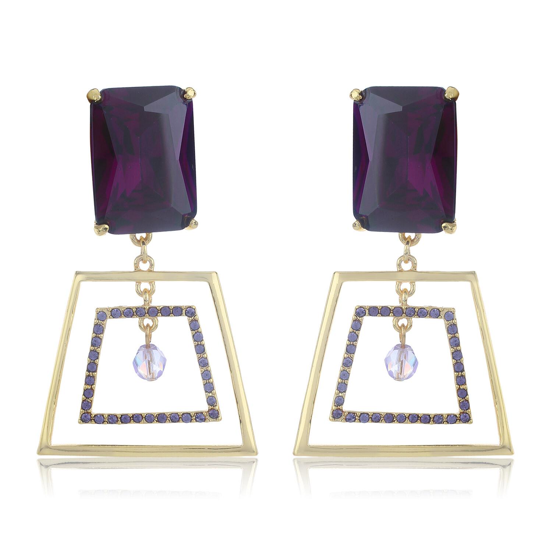 Estele Purple Dazzlers Earring