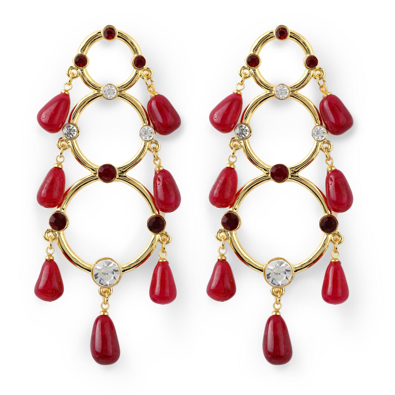 Estele Morocco Red Earring