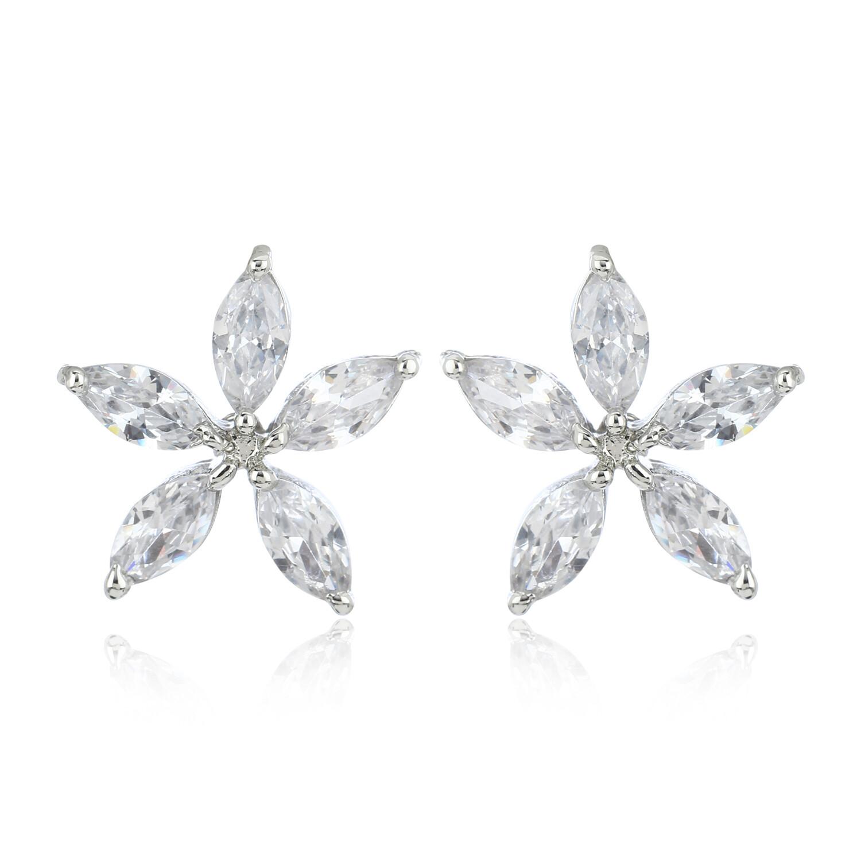 Estele Flower Shaped Stud Earring For Womens