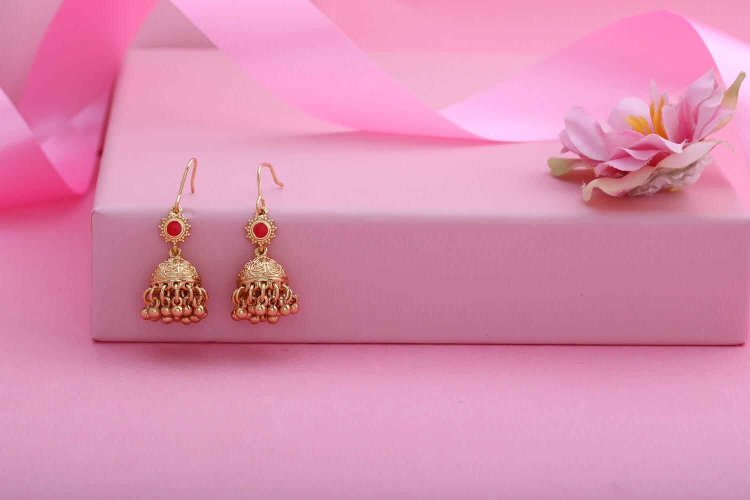 Estele Ethnic Traditional Gold Plated Fancy Earrings