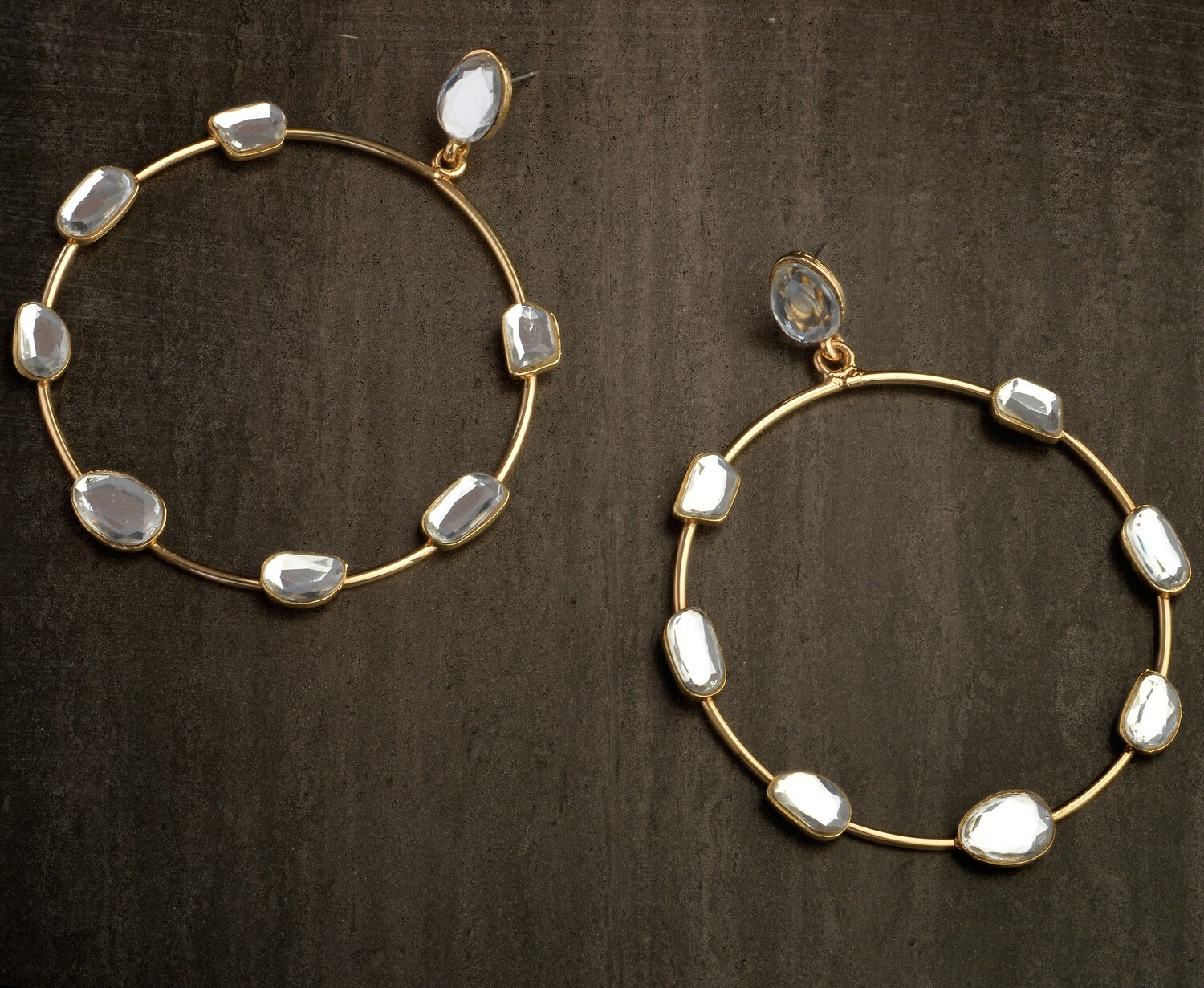 Estele Mirror embellished hoops