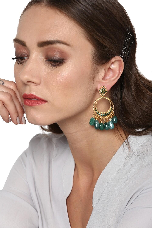 Estele Emerald  Bali Earrings