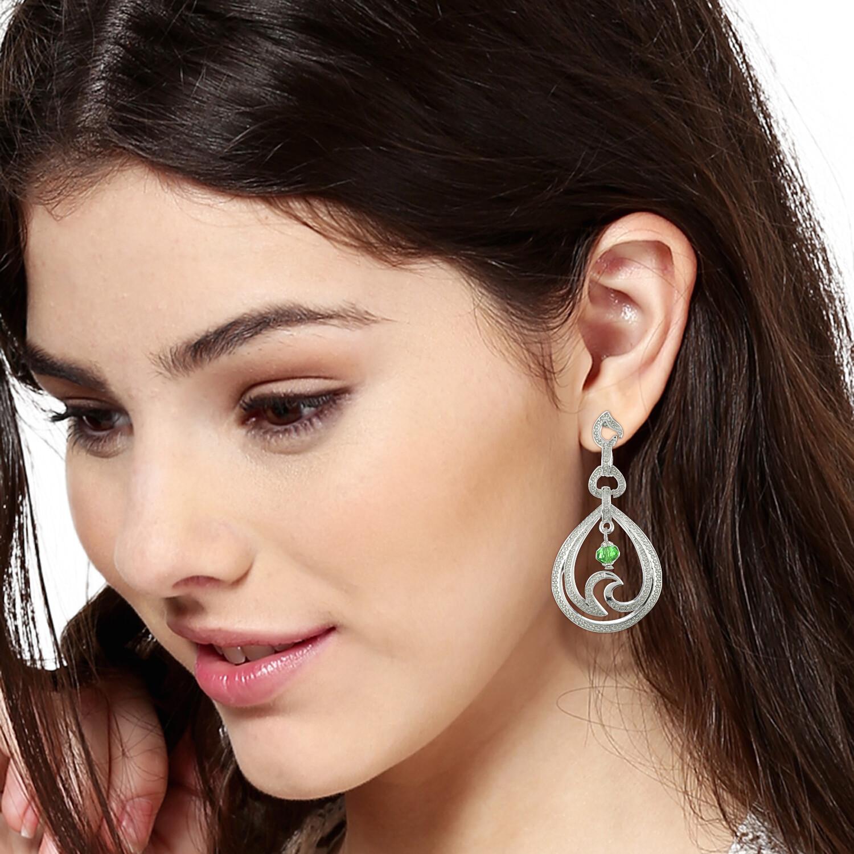 Estele Silver Plated Drop Earrings