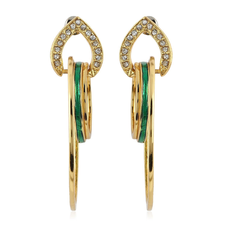 Estele Metal Diamante Earrings