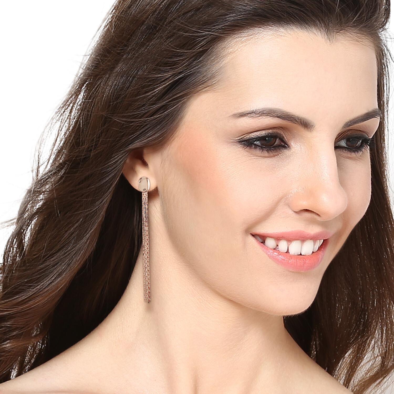 Estele Rose gold Tassel Earrings