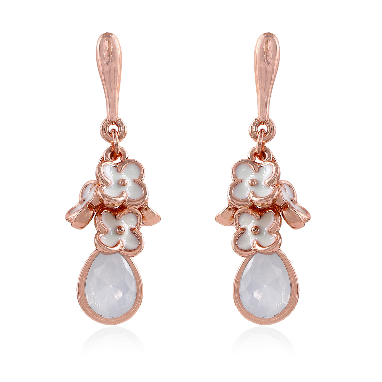 Estele Floral Designer Dangler Earrings