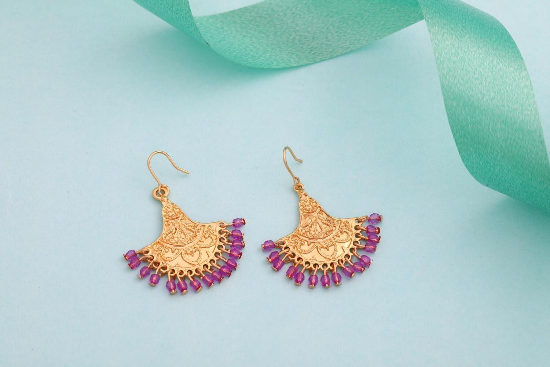 Estele Gold Plated Hoop Earrings