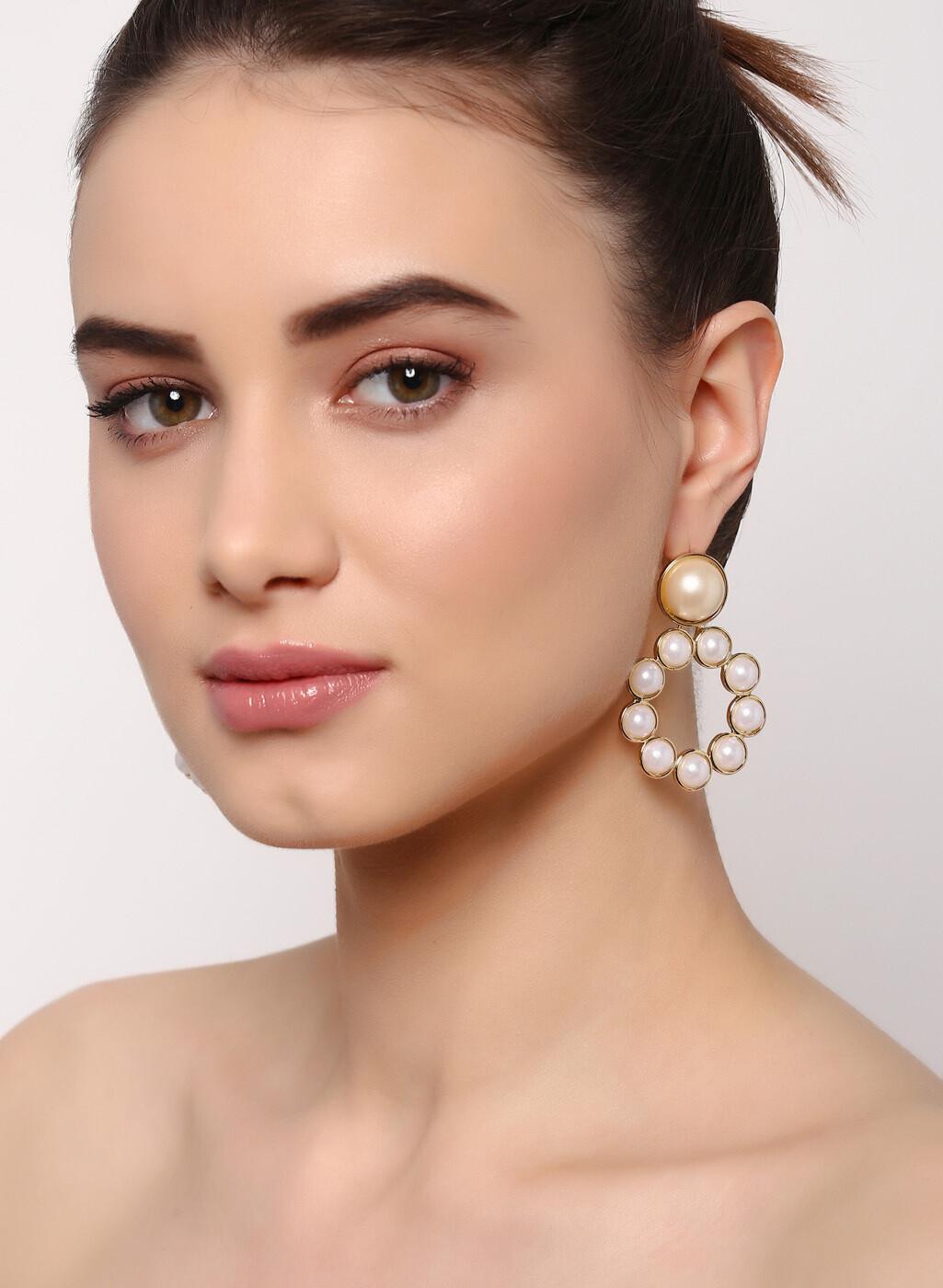 Estele Pearl On Pearl Earrings