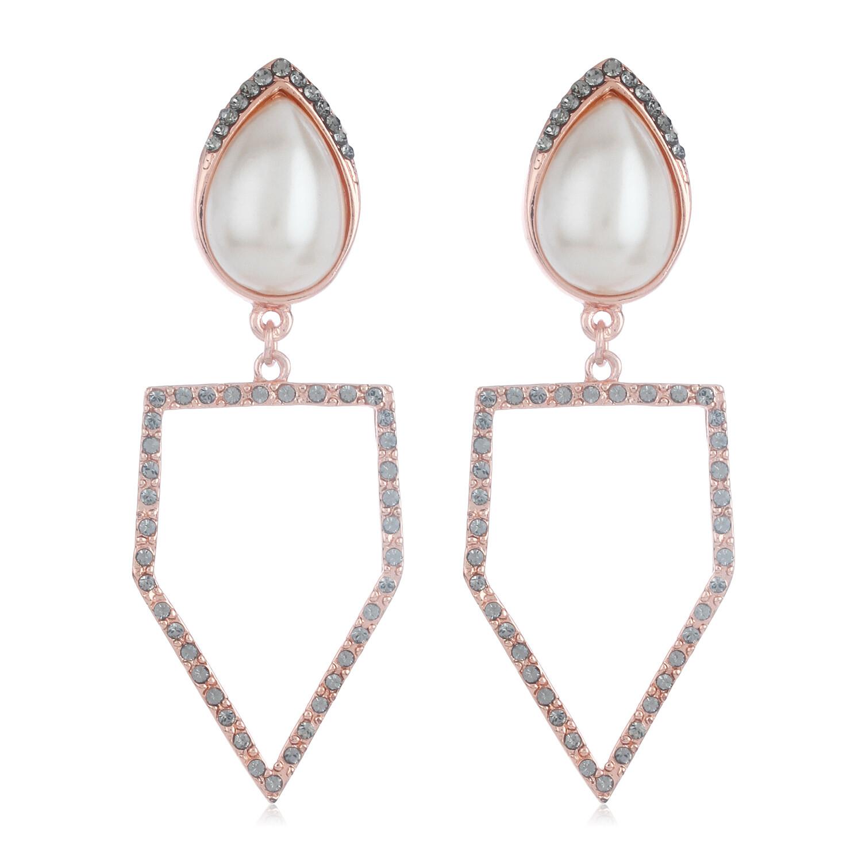 Estele Rose Gold Peak Earrings