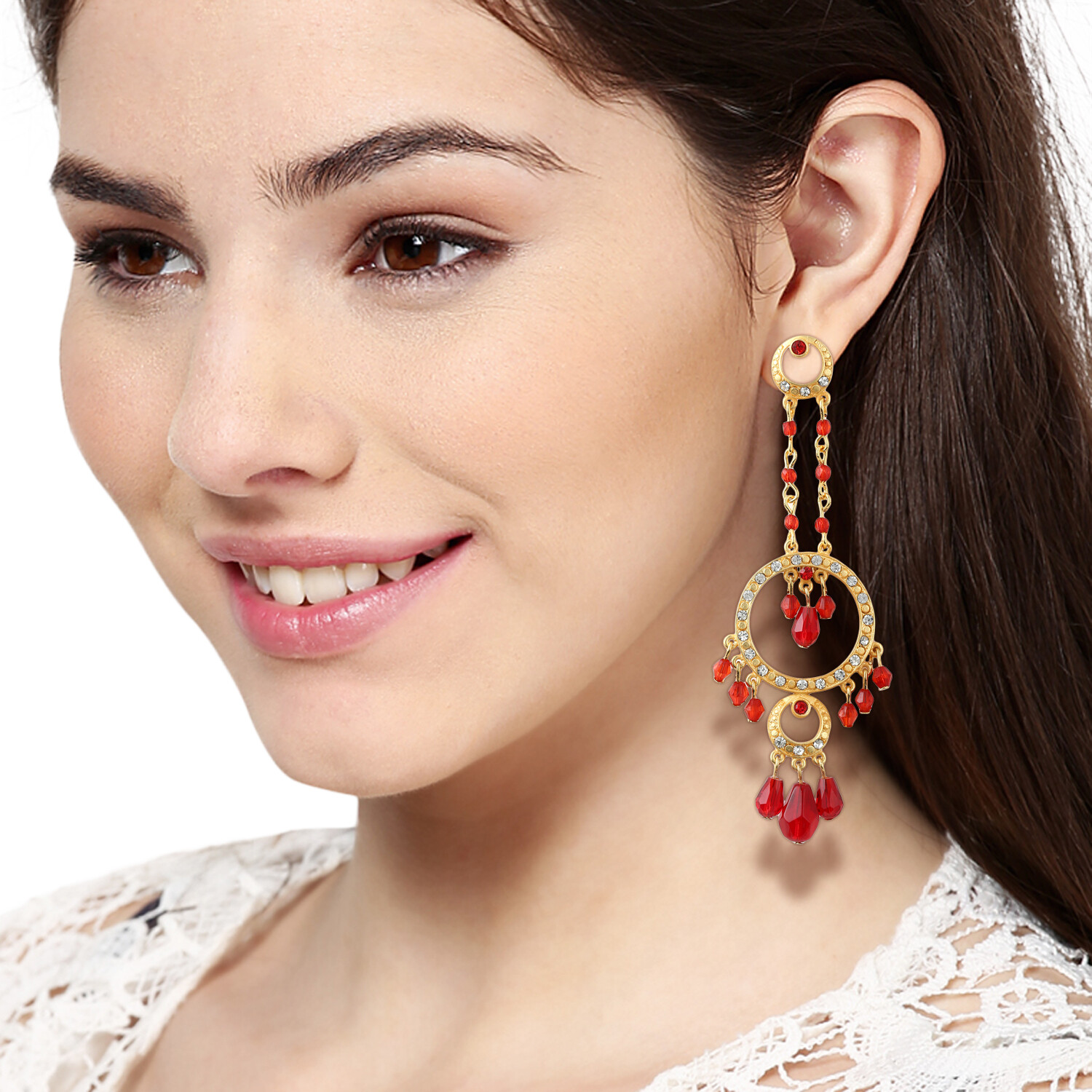 Estele Pretty Red Earring