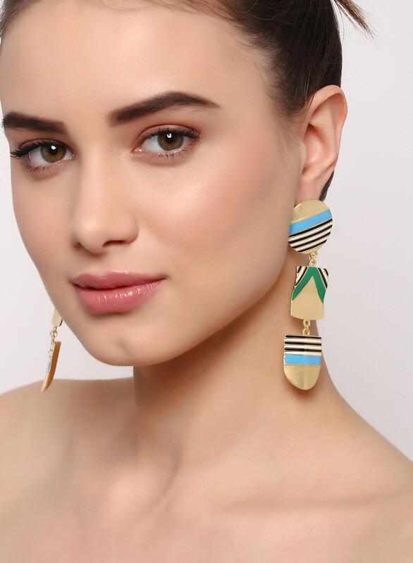 Estele Nautical Blue Earrings