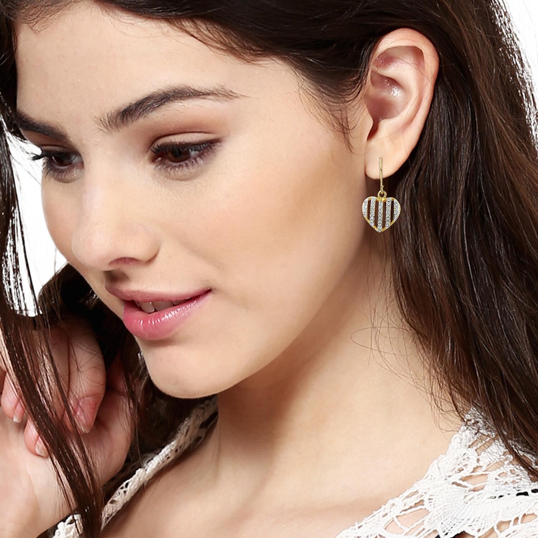 Estele Diamante Heart Earrings
