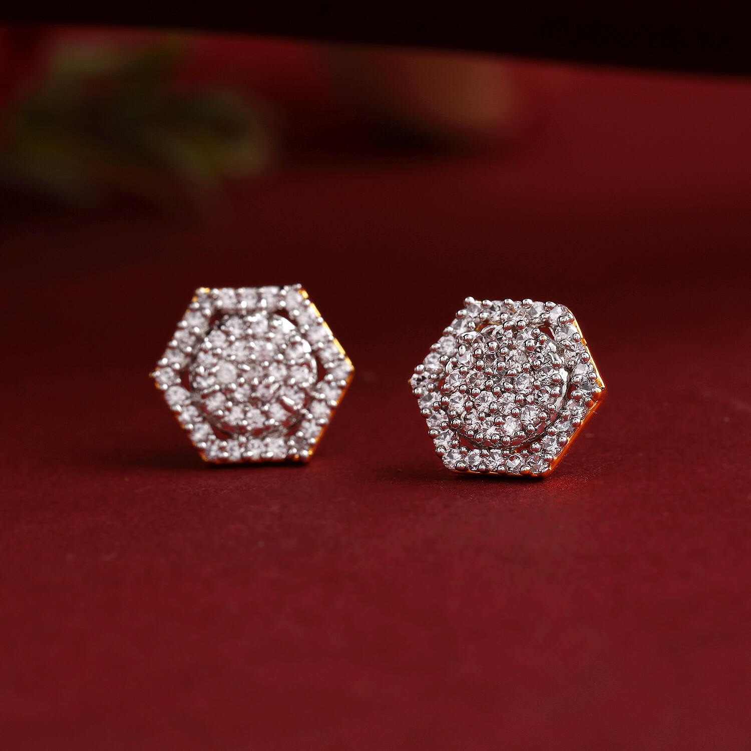 Estele Light Enriched AD Crystal Earrings