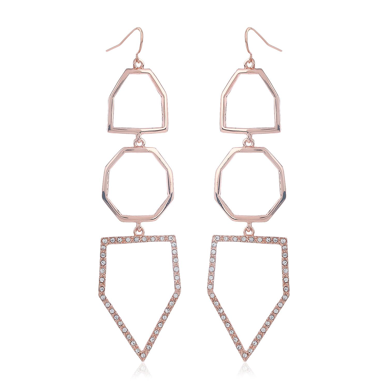 Estele Rose Gold Geometric Earrings