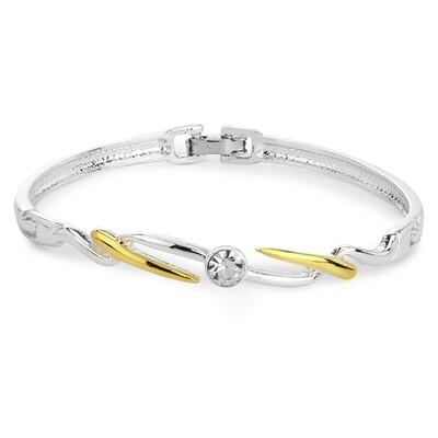 Estele Silver plated Bangle Bracelet