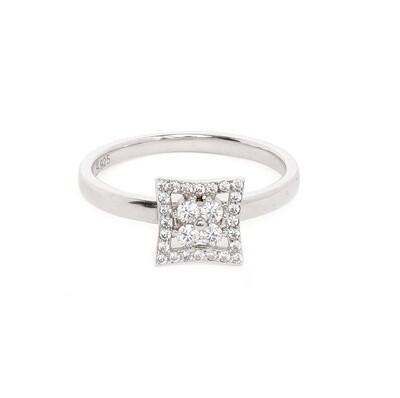 IndusDiva Sterling Silver Finger Ring