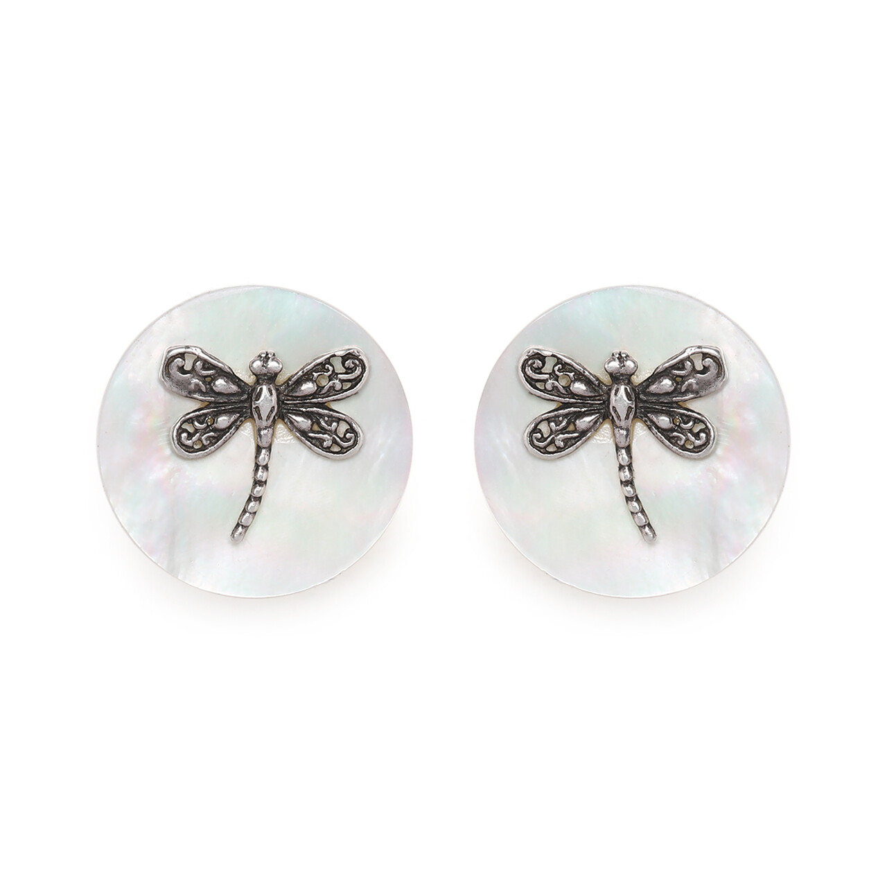 IndusDiva Round shaped Mother of Pearl With Dragonfly