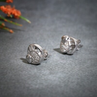 IndusDiva Micro Stone Sterling Silver Earring