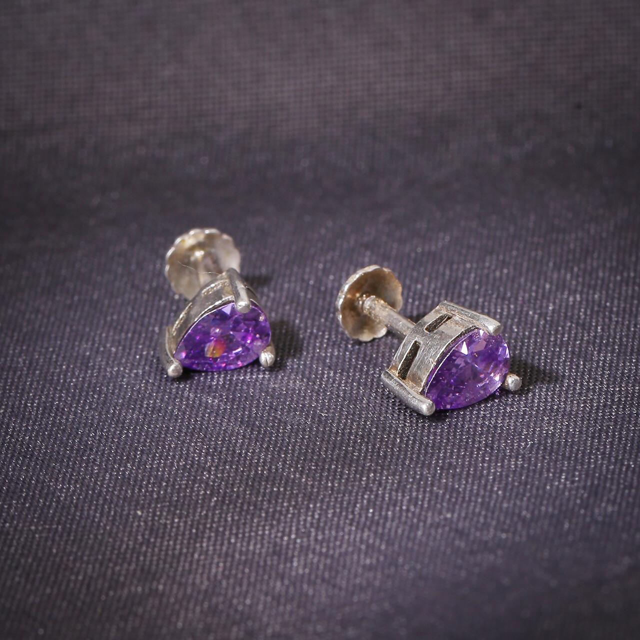 IndusDiva Single Stone Design Studs Earring