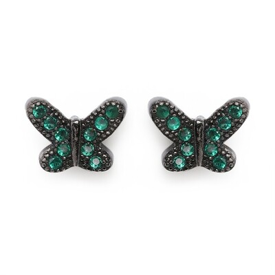 IndusDiva Coloured Micro Stone Studs Butterfly Earring