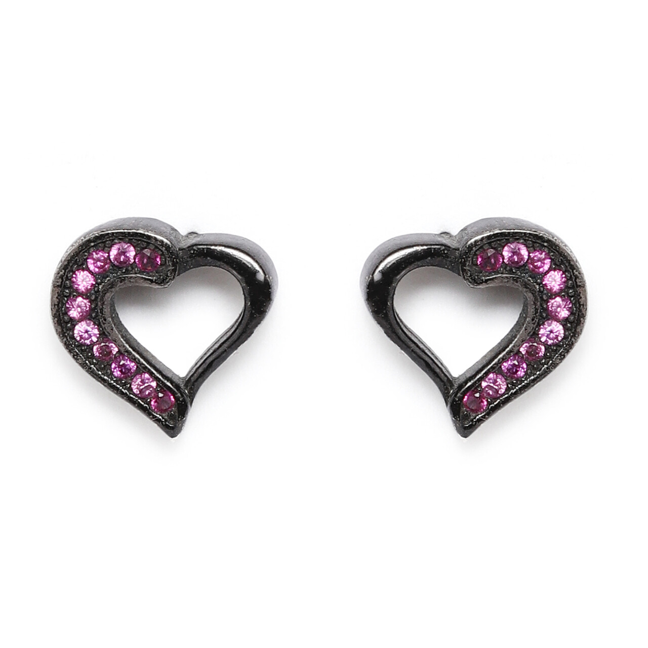 IndusDiva Coloured Micro Stone Studs Heart Earring