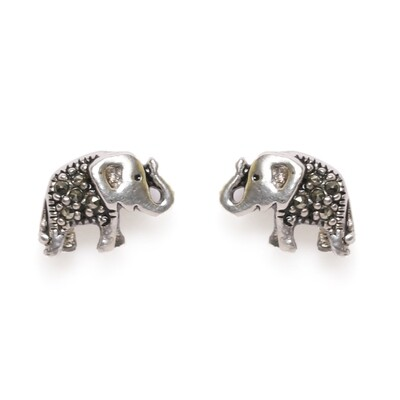 IndusDiva Elephant Shaped Micro Stone Studs Earring & Pendent Set