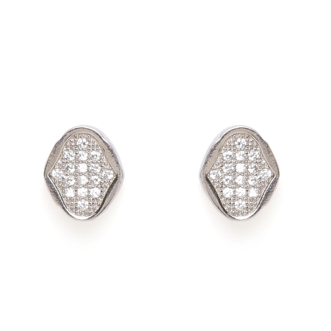IndusDiva Micro Stone Studs Earring & Pendent Set