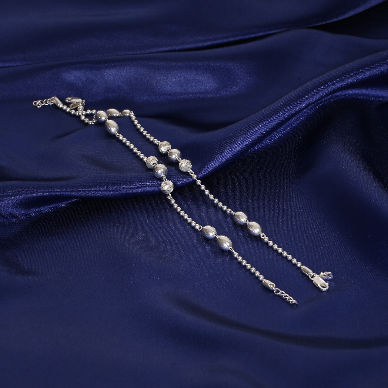 IndusDiva Big And Small Beads Anklet